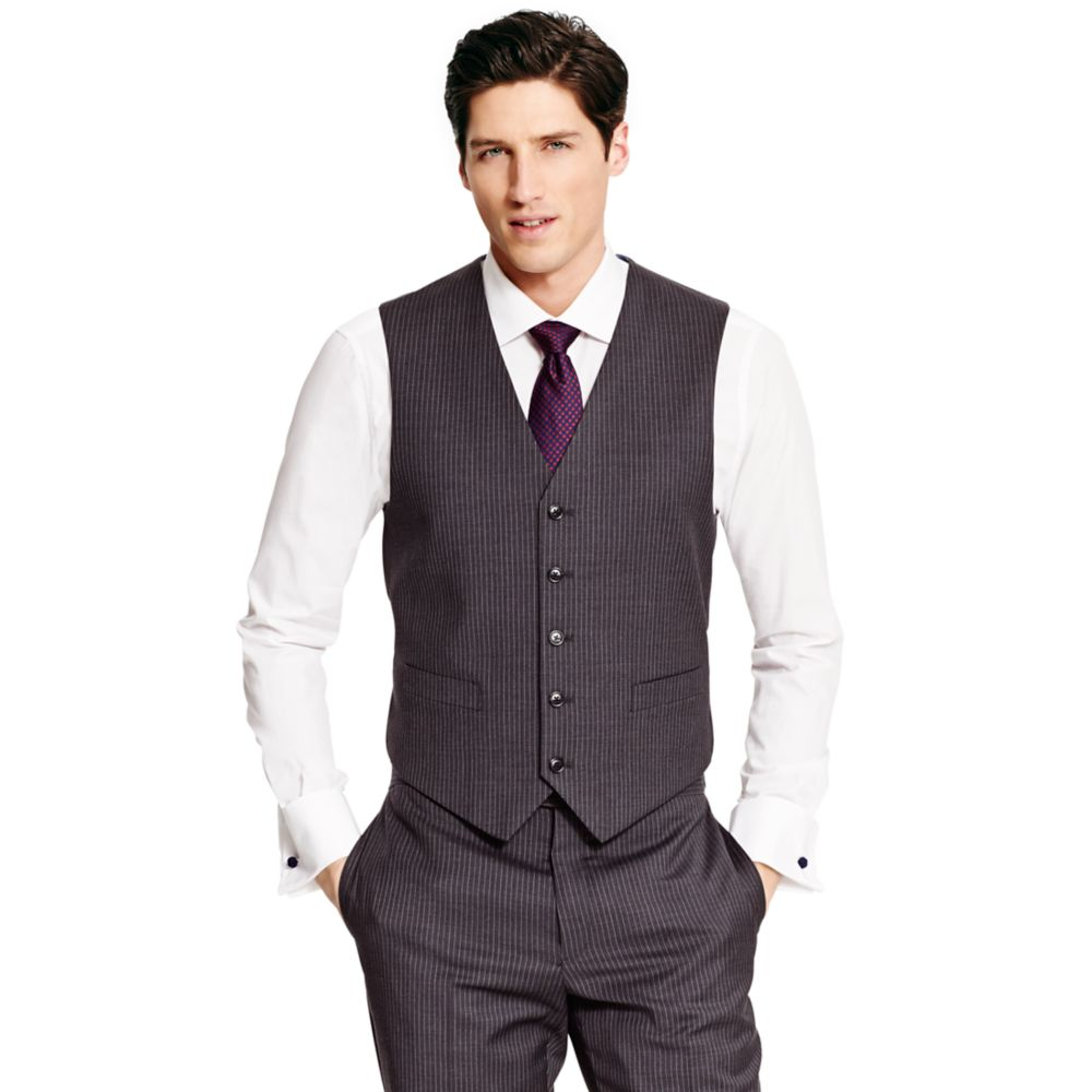 Image for CHARCOAL SLIM STRIPE VEST from Tommy Hilfiger USA