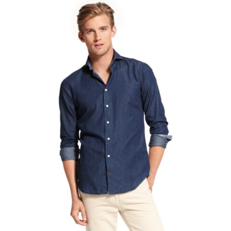 Image for DENIM DRESS SHIRT from Tommy Hilfiger USA