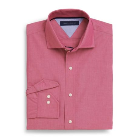 Image for WRINKLE-RESISTANT SOLID DRESS SHIRT from Tommy Hilfiger USA