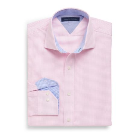 Image for WRINKLE-RESISTANT GINGHAM DRESS SHIRT from Tommy Hilfiger USA