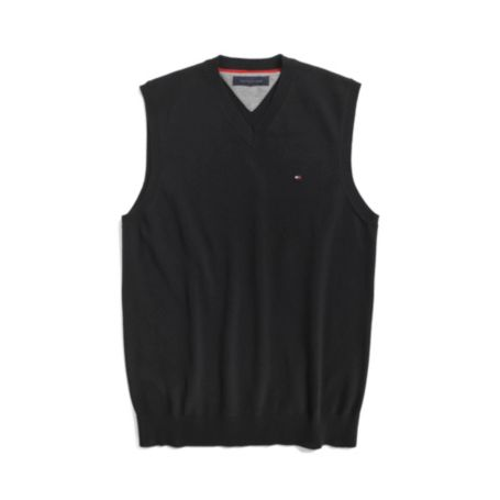 Image for SOLID SWEATER VEST from Tommy Hilfiger USA