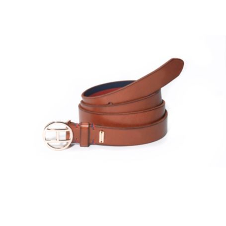 Image for OVAL FLAG PLAQUE LEATHER BELT from Tommy Hilfiger USA