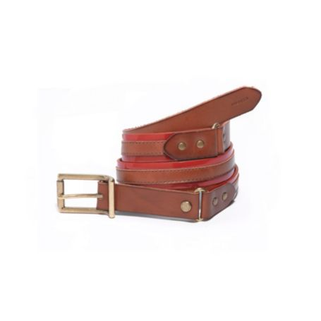 Image for PATENT STITCHED STRIPE BELT from Tommy Hilfiger USA