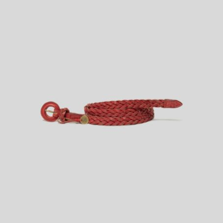 Image for SUPER SKINNY LEATHER BRAID BELT from Tommy Hilfiger USA