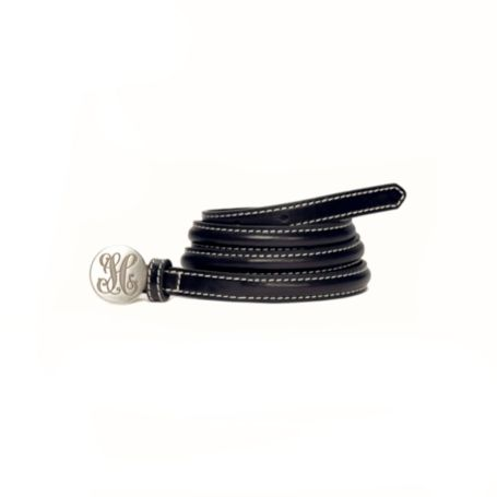 Image for LEATHER MONOGRAM BELT from Tommy Hilfiger USA