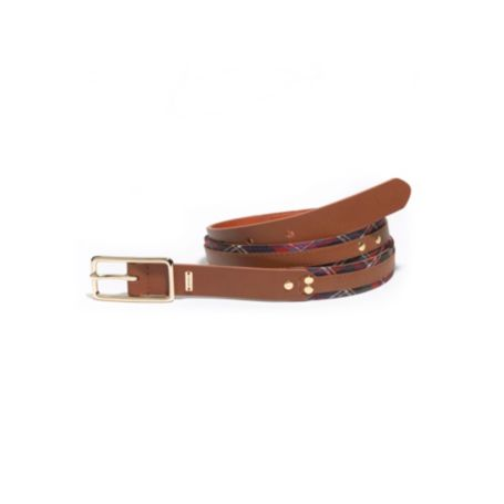Image for LEATHER BELT WITH STUD DETAIL from Tommy Hilfiger USA