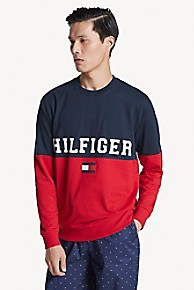 타미 힐피거 Tommy Hilfiger Colorblock Crewneck,DARK NAVY