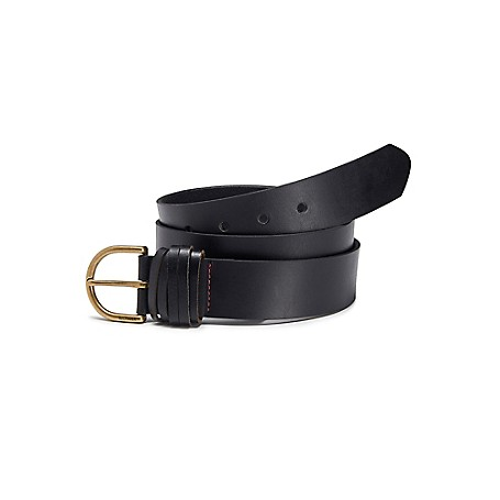 Tommy Hilfiger Final Sale- Womens Basic Jeans Belt - Black Outlet Exclusive Product100% Buffalo Leather