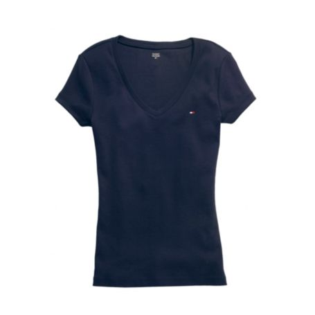 Image for V-NECK SHORT SLEEVE FAVORITE TEE from Tommy Hilfiger USA
