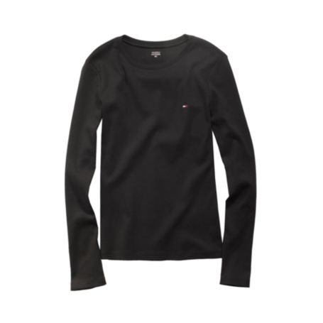 Image for LONG SLEEVE FAVORITE CREW NECK TEE from Tommy Hilfiger USA