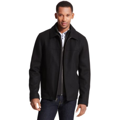 Image for WOOL ZIP UP COAT WITH FRONT LINING from Tommy Hilfiger USA