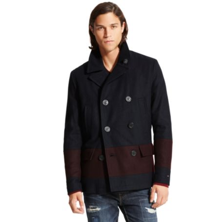 Image for STRIPED PEACOAT from Tommy Hilfiger USA