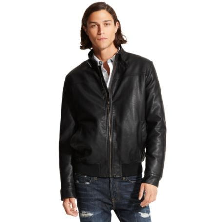 Image for FAUX LEATHER BOMBER from Tommy Hilfiger USA