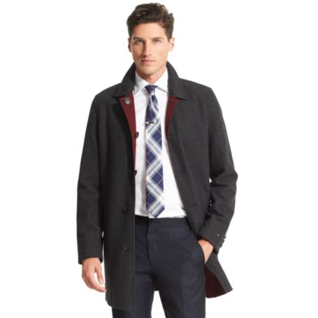 Image for REVERSIBLE PLAID TOP COAT from Tommy Hilfiger USA
