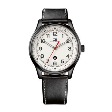 Image for MEN'S CLASSIC BLACK STRAP WATCH from Tommy Hilfiger USA