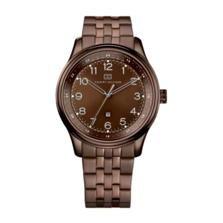 Image for MEN'S BROWN LINK WATCH from Tommy Hilfiger USA