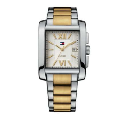Image for MEN'S TWO-TONE BRACELET WATCH from Tommy Hilfiger USA