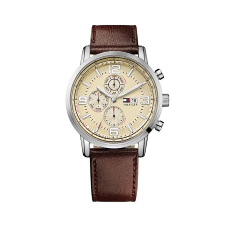 Image for MENS BROWN LEATHER STRAP WATCH from Tommy Hilfiger USA