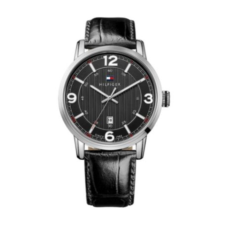 Image for EMBROSSED LEATHER STRAP WATCH from Tommy Hilfiger USA