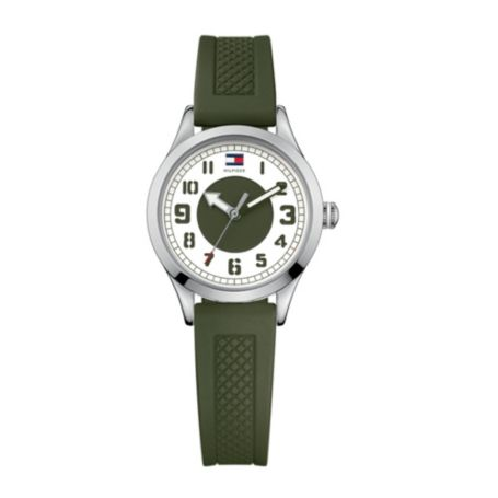 Image for STAINLESS STEEL SPORT OLIVE SILICON STRAP WATCH from Tommy Hilfiger USA
