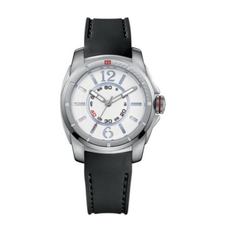 Image for BLACK SILICON STRAP WATCH WITH STAINLESS STEEL CASE from Tommy Hilfiger USA