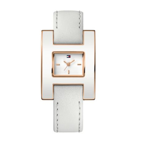Image for H ROSE GOLD CASE WATCH WITH ENAMEL BEZEL from Tommy Hilfiger USA
