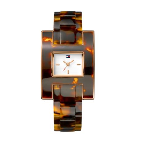 Image for TORTIOSE PLASTIC BRACELET WATCH from Tommy Hilfiger USA
