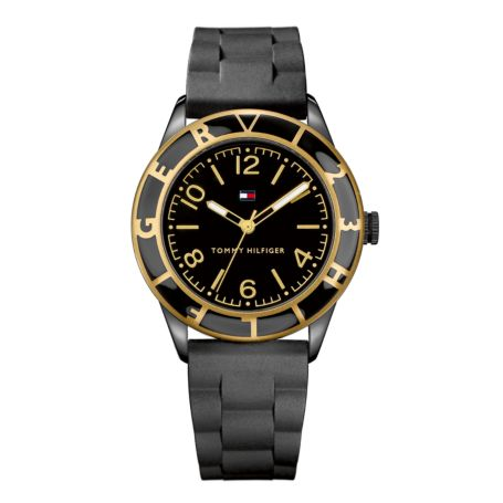 Image for BLACK SILICON STRAP WATCH from Tommy Hilfiger USA