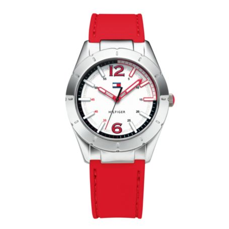 Image for RED/NAVY REVERSIBLE SILICON STRAP WATCH from Tommy Hilfiger USA