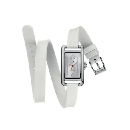 Image for WHITE SILICON DOUBLE WRAP WATCH from Tommy Hilfiger USA