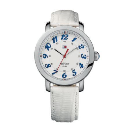 Image for WHITE LEATHER STRAP WATCH from Tommy Hilfiger USA