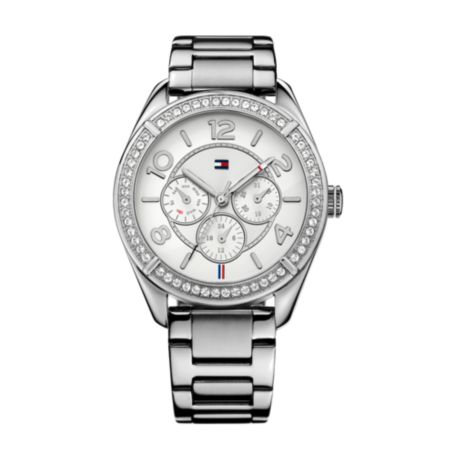 Image for STAINLESS STEEL CRYSTAL DETAIL WATCH from Tommy Hilfiger USA