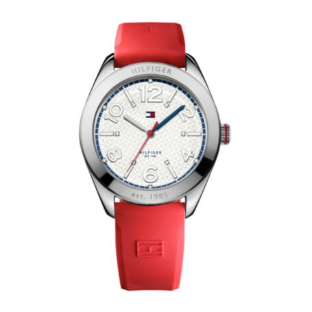 Image for RED STAINLESS STEEL WATCH from Tommy Hilfiger USA