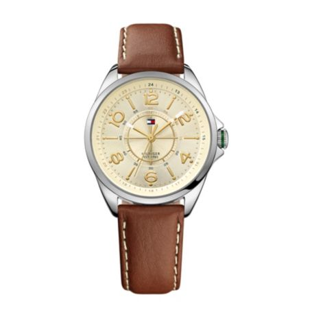 Image for BROWN LEATHER STRAP WATCH from Tommy Hilfiger USA