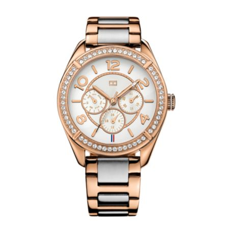 Image for TWO TONED ROSE GOLD BRACELET WATCH from Tommy Hilfiger USA