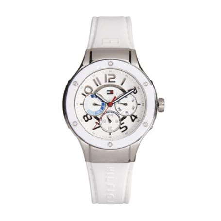 Image for WHITE SILICON WATCH from Tommy Hilfiger USA