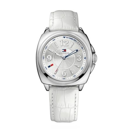 Image for WHITE ANIMAL SKIN LEATHER WATCH from Tommy Hilfiger USA
