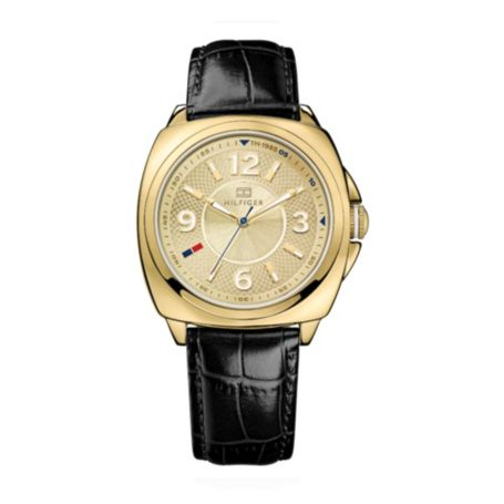 Image for NAVY ANIMAL SKIN LEATHER WATCH from Tommy Hilfiger USA