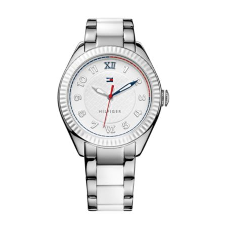 Image for WHITE PLASTIC BRACELET WATCH from Tommy Hilfiger USA