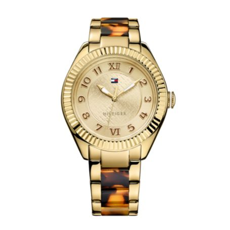 Image for TWO TONED TORTOISE WATCH from Tommy Hilfiger USA