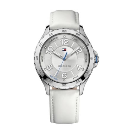Image for WHITE LEATHER WATCH from Tommy Hilfiger USA