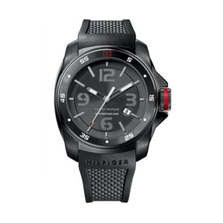 Image for BLACK SILICON STRAP MEN'S WATCH from Tommy Hilfiger USA
