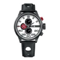BLACK LEATHER STRAP WATCH $145.00