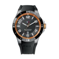 MEN'S BLACK SILICON STRAP WATCH $115.00