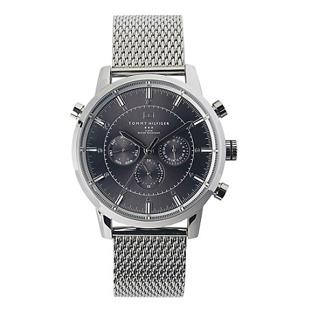 Tommy Hilfiger Mens Mesh Strap Watch - Silver Tommy Hilfiger Men'S Watch. A Handsome Timepiece At Home In The Boardroom And At The Club. Multi-Eye Movement Let'S You Can An Eye (Or Three) On The Time. &Nbsp;• Stainless Steel.• 44Mm Case, Quartz 3-Hand Multi-Eye Movement. • Water Resistant Up To 50 Meters. • 10-Yr Limited Warranty.• Imported.