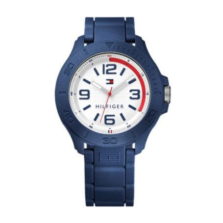 Image for BLUE SILICONE STRAP from Tommy Hilfiger USA