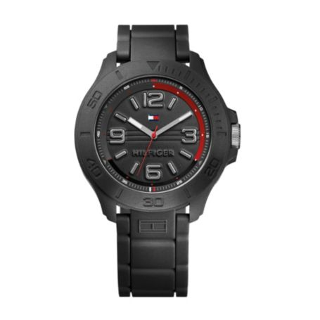 Image for BLACK SILICONE STRAP from Tommy Hilfiger USA