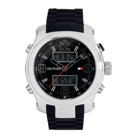 Image for BLACK SILICONE  SPORT STRAP from Tommy Hilfiger USA