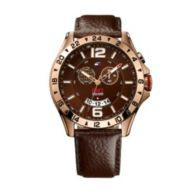 ROSE AND BROWN LEATHER STRAP $185.00