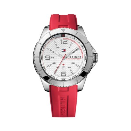 Image for RED SILICONE STRAP ATHLETIC WATCH from Tommy Hilfiger USA